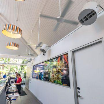 Destratification Retail Aisle Series Fan Installation 7