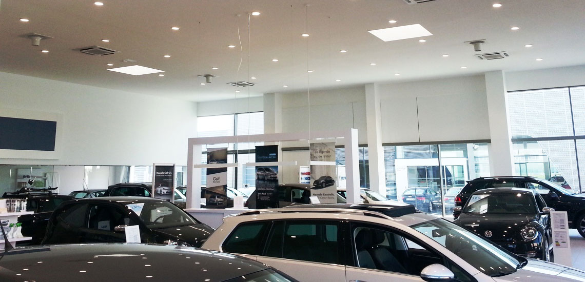 Destratification System Volkswagen Showroom Banner
