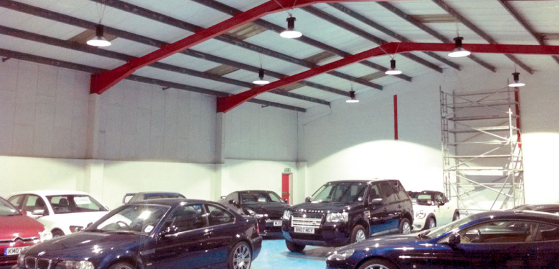Airius Install LED Lighting Into Cambridge Car Company Showroom