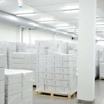 The Airius PureAir PHI Series Purifying Air in A Pharmaceutical Warehouse