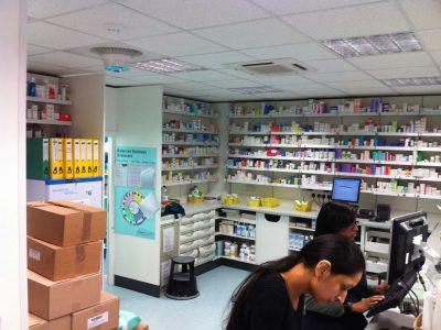 The Airius PureAir Series Purifying Air in A Retail Pharmacy