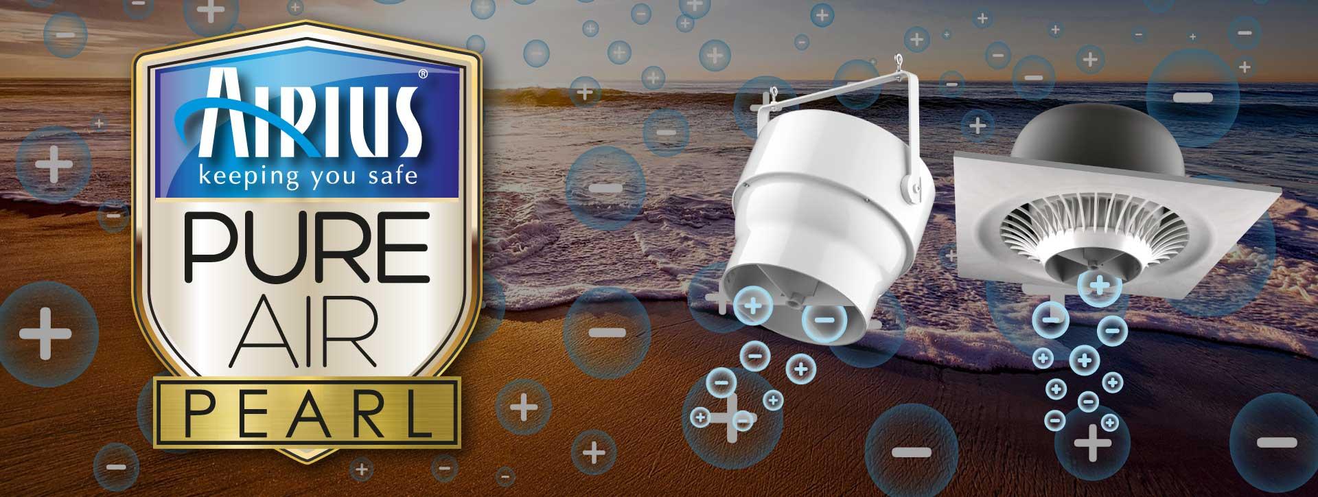 Airius PureAir Pearl BiPolar Ionisation Air Purification Fan