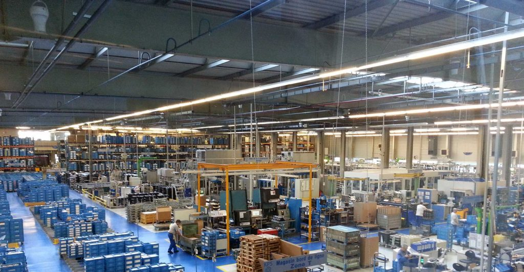 Airius Warehouse Ceiling Fans Keeping Knorr Bremse Comfortable