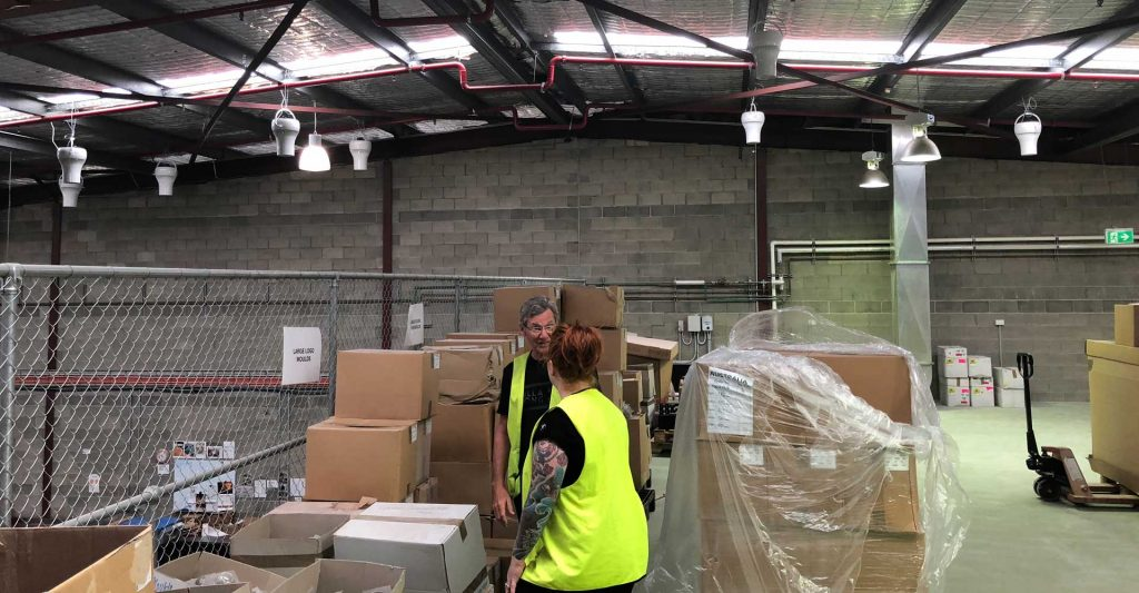 Airius Warehouse Ceiling Fans Keeping Lush Cosmetics Staff Comfortable