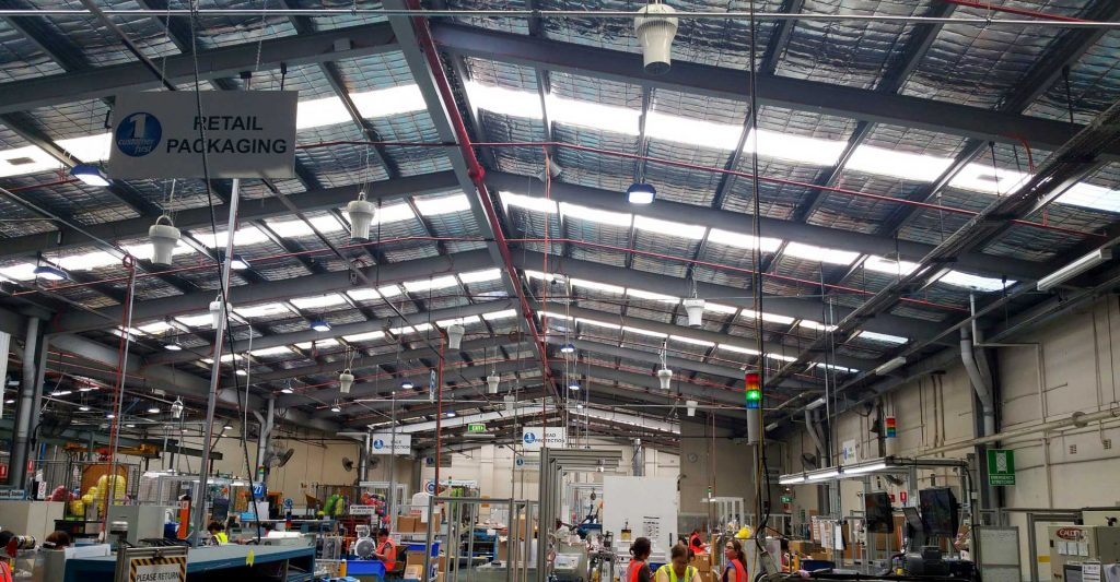 Airius Warehouse Ceiling Fans Keeping Lush Staff Comfortable