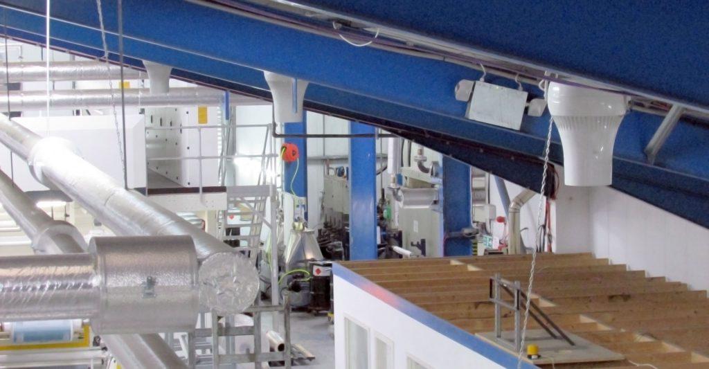 Airius Warehouse Ceiling Fans Keeping Saciflex Staff Cool