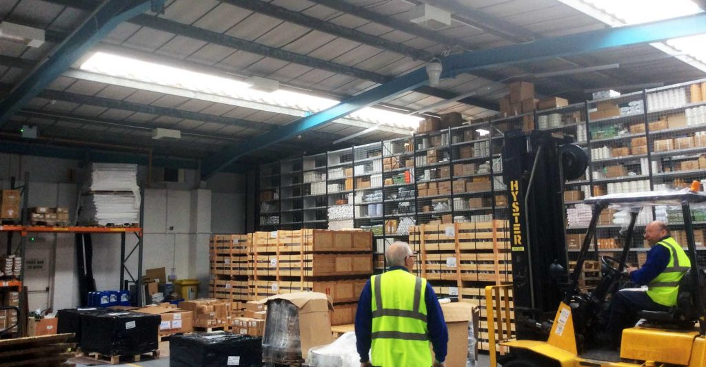 Airius Warehouse Ceiling Fans Keeping Staff Comfortable