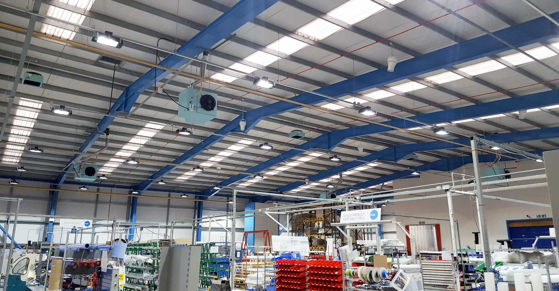 Airius Warehouse Ceiling Fans Keeping Teknek Staff Comfortable
