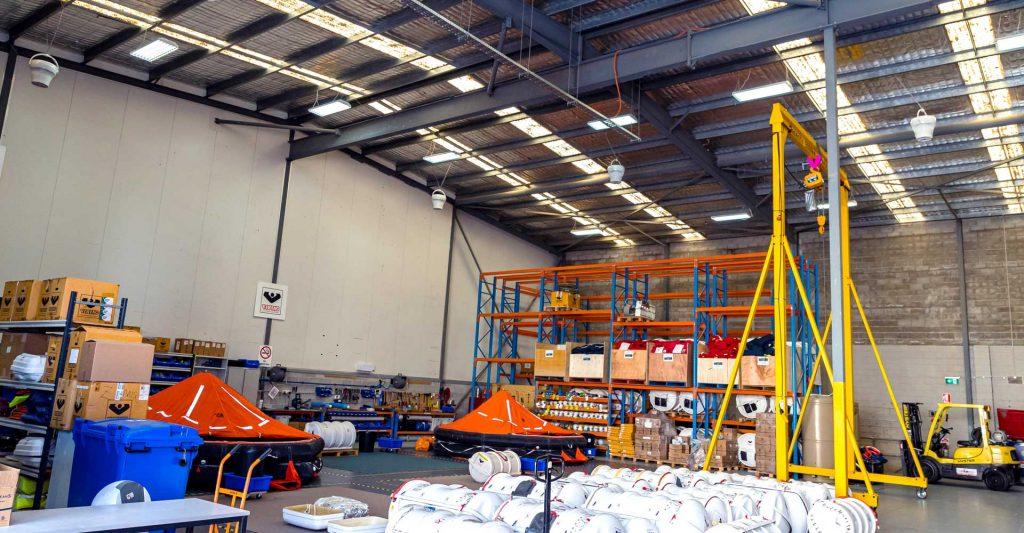 Airius Warehouse Ceiling Fans Keeping Viking Rafts Staff Comfortable