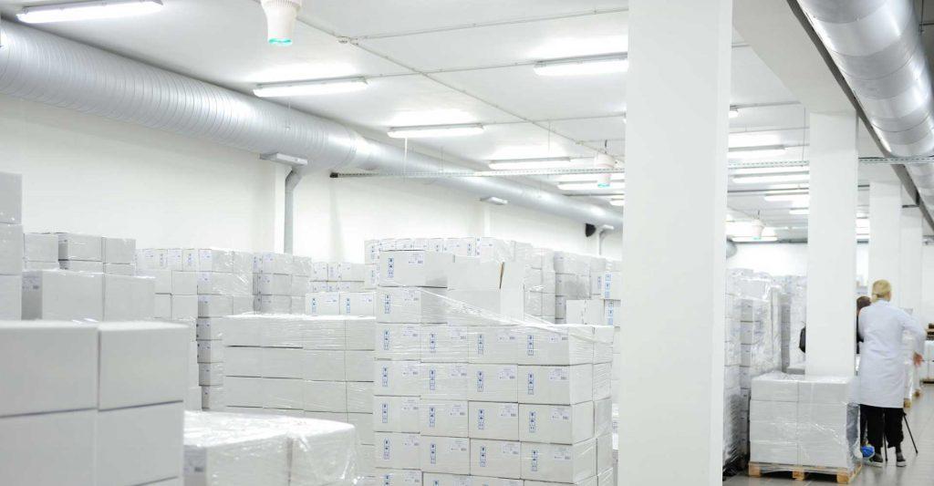 Airius Warehouse Ceiling Fans Maintaining Pharmaceutial Storage Temperatures